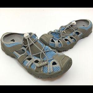 propet womens size 7 blue fisherman sandals